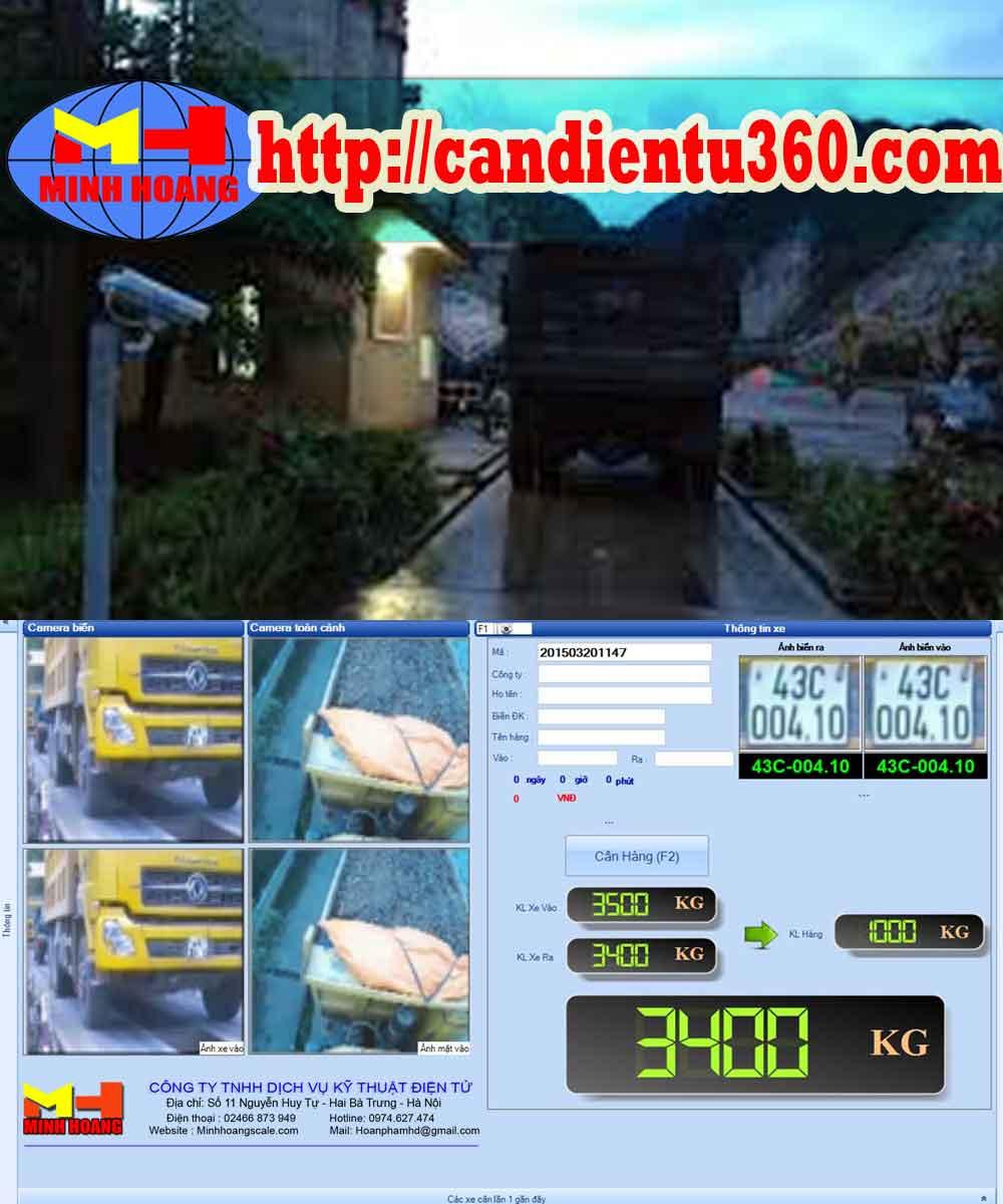 Phần mềm quản lý trạm cân ô tô xe tải và quản lý biển số xe qua camera